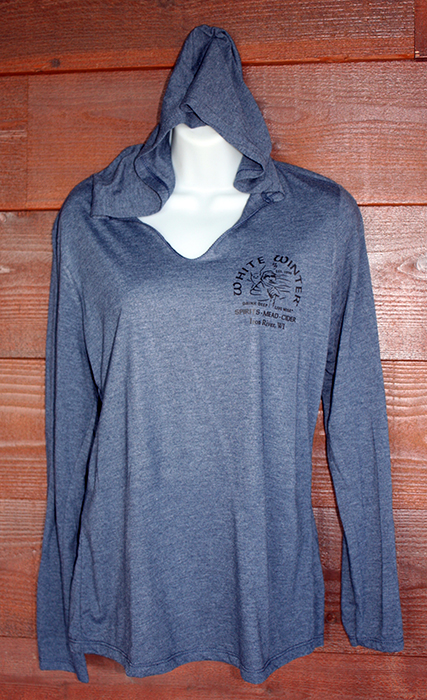 Blue Women's Logo Hooded Long-Sleeve Shirt