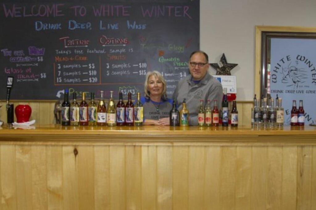 Jon & Kim Hamilton at White Winter Winery in Iron River, Wisconsin